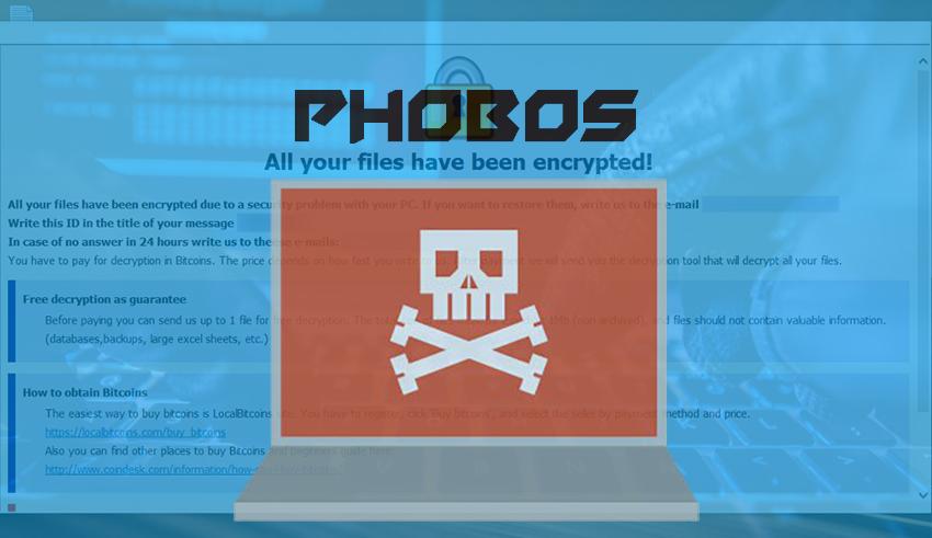 Dharma Crew Distributing Phobos Ransomware