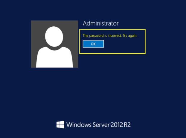 Reset Windows Server 2012 Domain Administrator Password